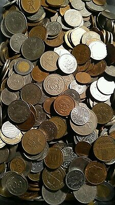 4 Pound Lot of Foreign Mixed Coins.