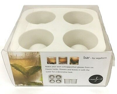 Sagaform Ice Shot Glass Moulds - Fill & Chill Frozen 4x Party Shot Glasses