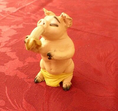 Hand Painted Italian Lovely Pig Ornament