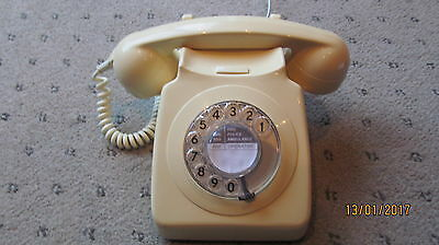 Original Gpo Vintage 746 Ivory  Dial Telephone [Converted]Lovely  Phone