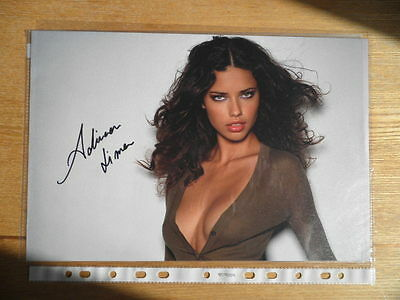 Adriana Lima Genuine Hand Signed Photo 12 x 8