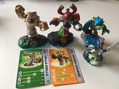 4 Skylanders Swap Force Figures Character - Grilla Drilla Magna Charge Chop Chop