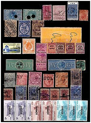 World Revenue Selection 42 Stamps. Mint/Used.  #73
