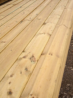 3.6m SHIPLAP Tanalised Timber Cladding Tongue & Groove boards ex 15x125