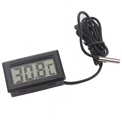 LCD Digital Sensor Temperature Thermometer Meter fridge Thermometer 1M Cable