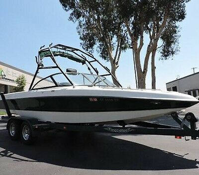 Tige Wakeboard Tower & Tower Mount Bimini VGC. Comes With 4 Wakeboard Racks.