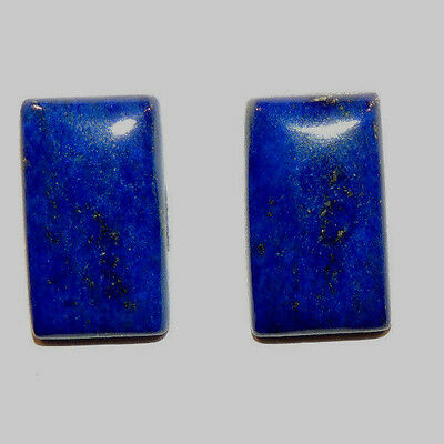 Lapis Lazuli Pair of Cabochons 16x9mm with 3.5mm dome (11697)