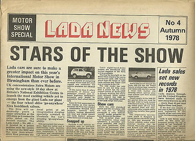 LADA NEWS AUTUMN 1978 UK promotional newsletter folded, large A3 size 8 pages