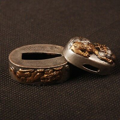 High quality brass Kashira Fuchi For Japanese Samurai Katana& Wakizashi&Tanto