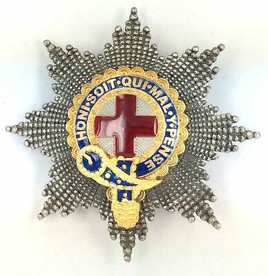 The Most Noble Order Of The Garter Breast Star With Facets