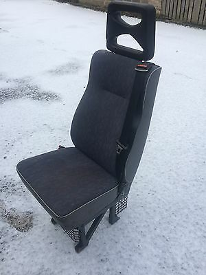 Minibus Van Coach Seat Single with seat belt. Ready to bolt in.