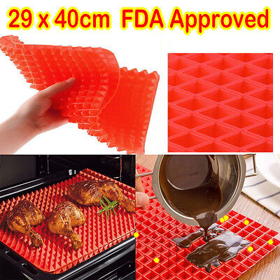 Pyramat  Large Pyramid Pan Non Stick Silicone Cooking Mat Oven Baking Tray