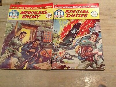Picture Stories Of World War 11 comic books x 2