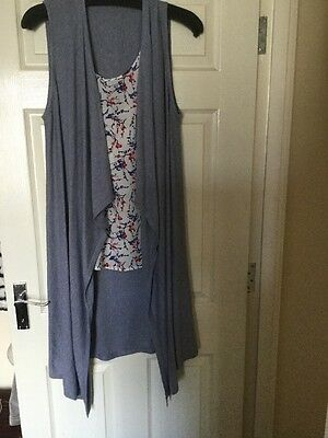 New. Top And Knitted Long Waistcoat Size 18