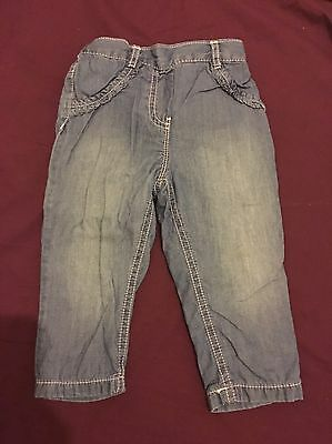 Baby Girls 6-9 Months Jeans From George Asda
