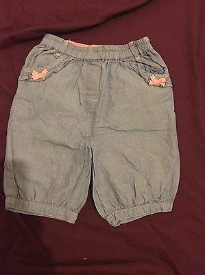 Baby Girls 6-9 Months Crop Jeans From Matalan