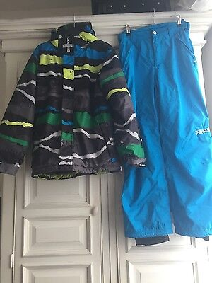 Billabong boys ski suit jacket and trousers 14 years