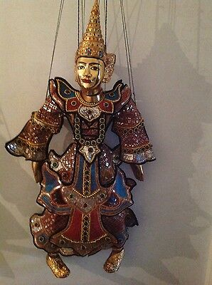 Large, Beautiful, embroidered King Nat marionette puppet from Burma / Myanman