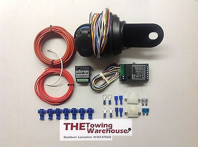 13 Pin Euro Electric Towbar Towing Wiring Kit Charging 7way bypass relay cambus