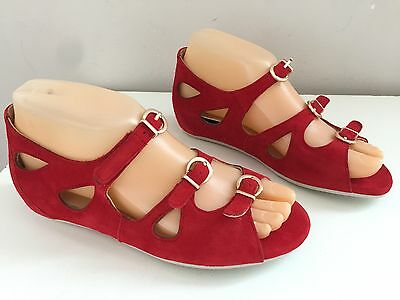 New ZIERA ALL DAY (Kumfs) Leather Removable Orthotic Sandals Sz 36 W (6) #8234