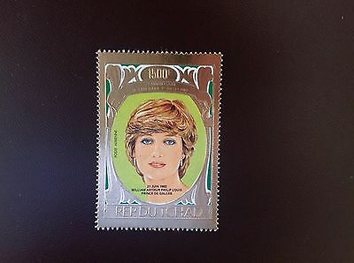 Chad 1983 Gold Foil Birth Of Prince William MNH Back Marked