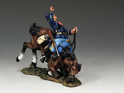 King And Country Trw050 - Falling Trooper & Horse - The Real West