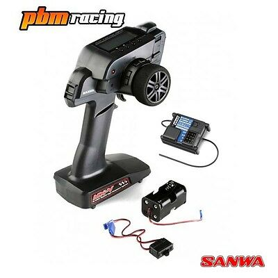 Sanwa MX-V RC Car FHSS-2 2.4Ghz Transmitter With One RX-37W Receiver 101A30886A