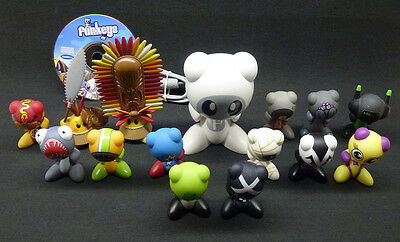 """Lot of 14 U.B. FunKeys Figures with Base & Game Disc Some Listed as """"Rare"""""""