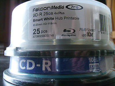 Lot Bd R 25Gb X25 Pcs   +  Cd R 10 Pcs