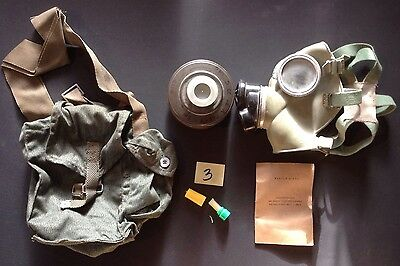 Army Surplus Polish Gas Mask / Respirator, Filter, Bag, Instructions.(#3)