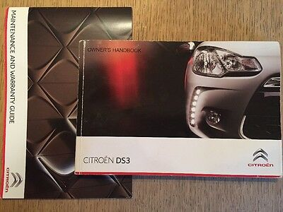 Genuine Citroen Ds3 Owner Handbook Manual & New Ds Servicebook
