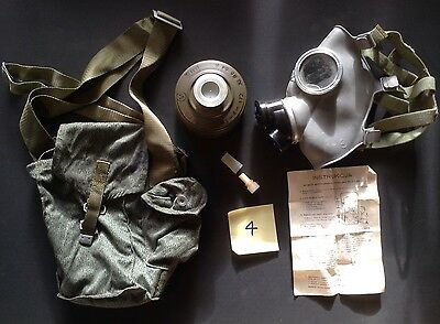 Army Surplus Polish Gas Mask / Respirator, Filter, Bag, Instructions.(#4)