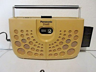 Vintage 70's 8 Track Portable Tape Player Panasonic Butterscotch Yellow 2 Speake