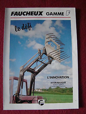 FAUCHEUX Gamme F Chargeur  4 pages No tracteur tractor IH, Fend Deutz Ford