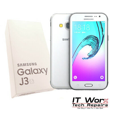 Samsung Galaxy J3 (6) White Brand New 8Gb Unlocked Dual Sim 4G Lte Sm-J320F/ds