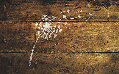 A4 Dandelions Hearts Stencil Shabby Chic Furniture Fabric Vintage MYLAR