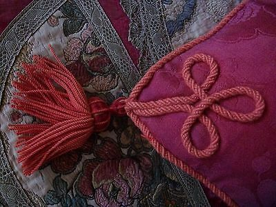 Authentic Vintage French Tassel Rasperry Coloured  Cushion
