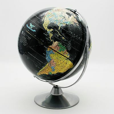 "Replogle 12"" Starlight Black Oceans World Globe Dual/Twin Axis Spinning Earth"