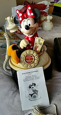 (Rare Mint Condition) Disney Minnie Mouse Telephone  Model 205