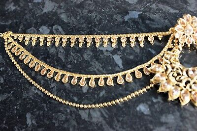 Earring holder Chain for heavy earrings sahara sahar chediya sur indian ear