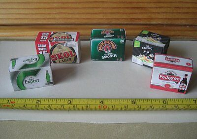 Dollshouse 12th scale - five Beer boxes (for shop or pub)