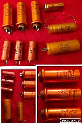 Job Lot Of 4 VINTAGE Electrolytic & 5 More Items, Look, Occasion And Rare