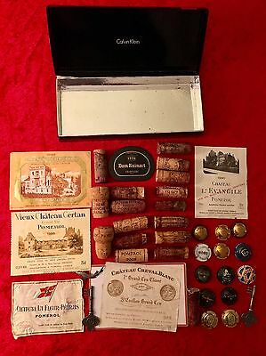 Rare Lot Of: WINE LABELS, Corks, Capsules, OCCASION