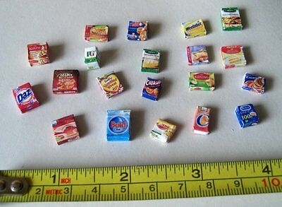 Dollshouse - 24th scale -  Grocery packets
