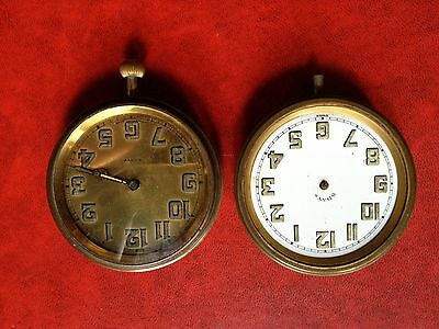 Two 8 Day Traveling Clock Spare Or Repair