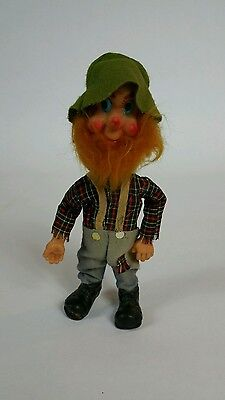 "Vintage Jestia HILLBILLY DOLL 8.75"", Stuffed Cloth Japan"