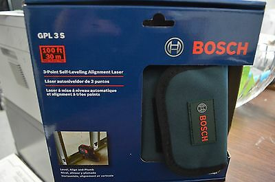 Bosch GPL3 S 3-Point Self-Leveling Alignment Laser Level