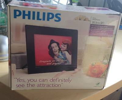 "Philips Spf4308  8"" Led Cornice Elettronica Foto Nera"