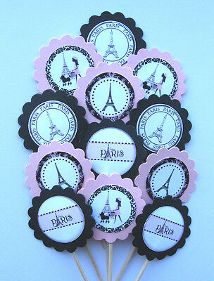 Paris Eiffel Tower Cupcake Toppers/Party Picks  Item #516