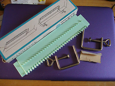 in box, Readicut, 2 x brackets with canvas holder, clips on table, VGC